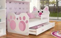 Łóżko KOTEK 160x80 + szuflada + materac
