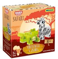 Baby Blocks Safari  krokodyl i zebra WADER 41501