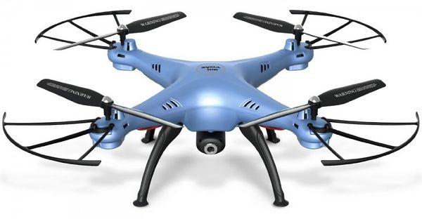 Syma X5HW (kamera FPV 0.3MP, 2.4GHz, funkcja zawisu, zasięg do 50m, 33cm) - Niebieski