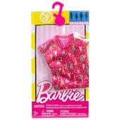 Barbie Modne Sukienki DWG12 Kolorowa  sukienka w paski MATTEL FCT12
