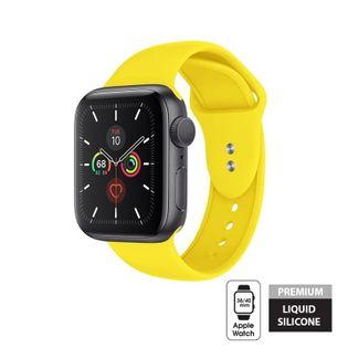 Crong Liquid Band - Pasek do Apple Watch 38/40 mm (żółty)