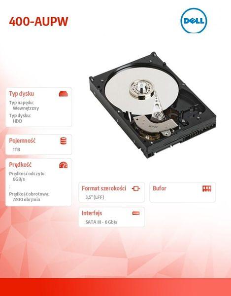 Dell #1TB 7.2K SATA  6Gbps 3.5 Non Hot-Plug na Arena.pl