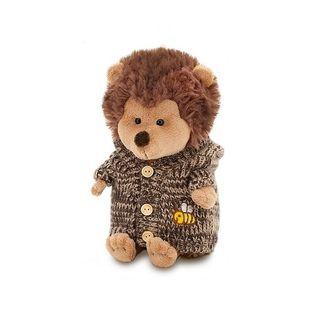 Przytulanka Jeżyk w brązowym sweterku z kapturem - 25cm #T1