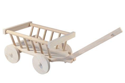 Drewniany wózek drabiniasty