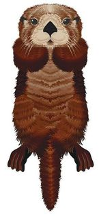 "Latawiec BRAINSTORM - WNS SeaLife 50x21"" Nylon Otter"