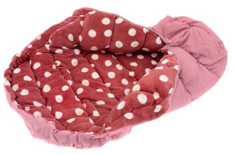 ŚPIWOREK DO WÓZKA SANEK Śpiwór Ocieplany 4w1 dots pink burgundy