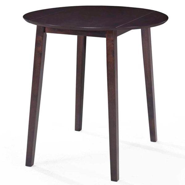 Stół I Krzesła Barowe, Lite Drewno, Ciemnobrązowe zdjęcie 2