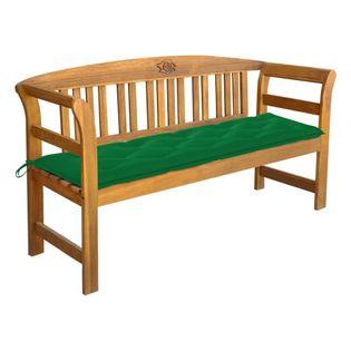 Lumarko Ławka ogrodowa z poduszką, 157 cm, lite drewno akacjowe;