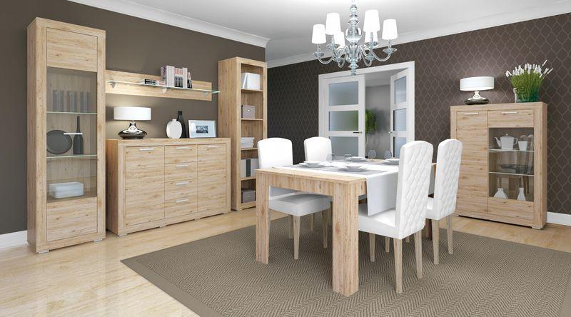 Modern Stół Rozkładany Do Jadalni 80x140 Dąb Arenapl