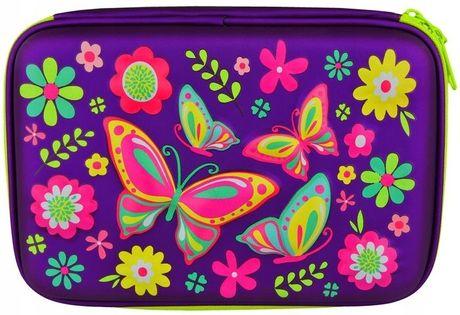 Piórnik 3D Szkolny Motylki Kwiatki Folk Usztywnion