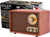 Radio z bluetooth w stylu retro AM i FM Adler AD 1171