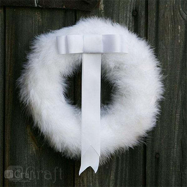 Piórka Dekoracyjne 5 12cm Białe 5g Cepi 001