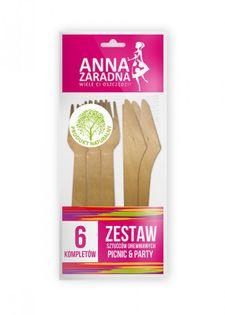 Zestaw Sztućców Drewnianych Anna Zaradna, 6 Kompletów, Drewno