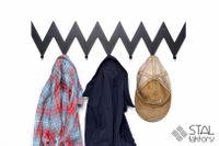 Zyg Zag ostry #2 | Wieszak na ubrania | metalowy | 68cm STAL FAKTORY