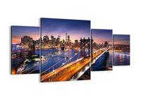 Obraz Na Płótnie - Nowy Jork Most - 160X90 Cm - Dl160X90-2820