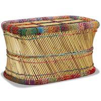 Stolik kawowy z detalami w stylu chindi bambus wielokolorowy VidaXL