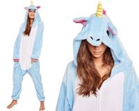 JEDNOROŻEC Niebieski Piżama Kigurumi Kombinezon S