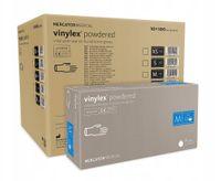 Rękawice winylowe vinylex powdered M  karton 10 x 100 szt