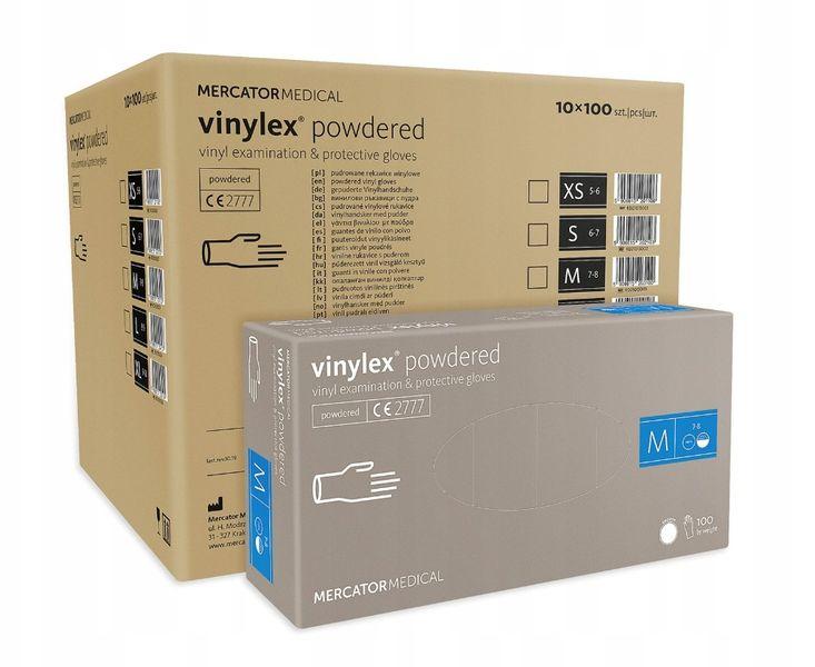 Rękawice winylowe vinylex powdered M  karton 10 x 100 szt na Arena.pl