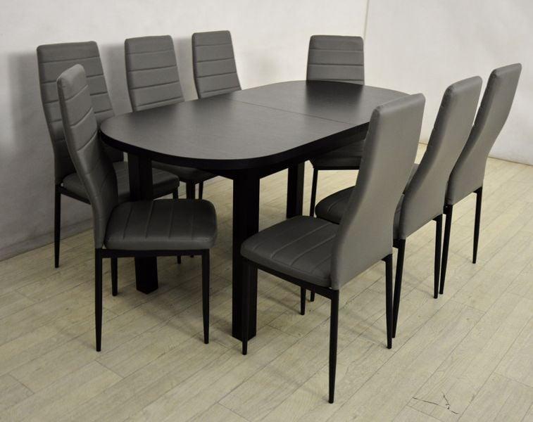 Owalny Drewniany Stół I 8 Krzeseł Zestaw Do Salonu Arenapl
