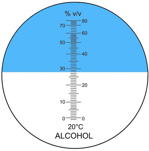 Refraktometr do alkoholu 0-80% ATC alkohol miernik na Arena.pl