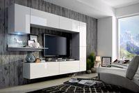 Zestaw do salonu MUSTANG C6 meble wiszące LED pod telewizor Połysk