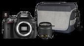 Lustrzanka Nikon D5300 + Obiektyw Nikkor AF-P 18-55 VR + 16 GB +Torba