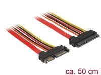 KABEL SATA DATA III (6 GB/S) 22 PIN(F)->SATA 22 PIN(M) 50CM DELOCK