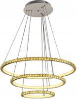 Lampa wisząca ENZO kryształki okrąg żyrandol 30+50+70 LED 70W Wobako