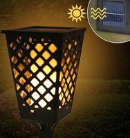 Lampa solarna LED żywy ogień 95 CM wbijana, model 2019