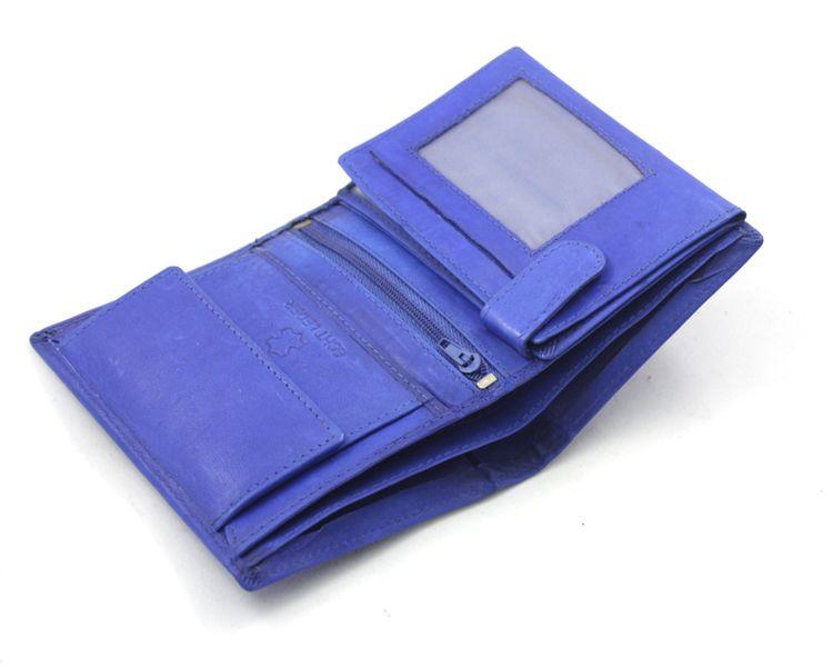 eb8382fcc7798 Męski super wyposażony pionowy portfel skórzany Bag Street niebieski  zdjęcie 5