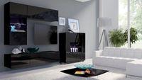 Meblościanka VELO 3 – czarny połysk, meble do salonu