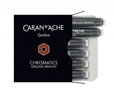 Naboje Caran D'ache Chromatics Organic Brown, 6Szt., Brązowe