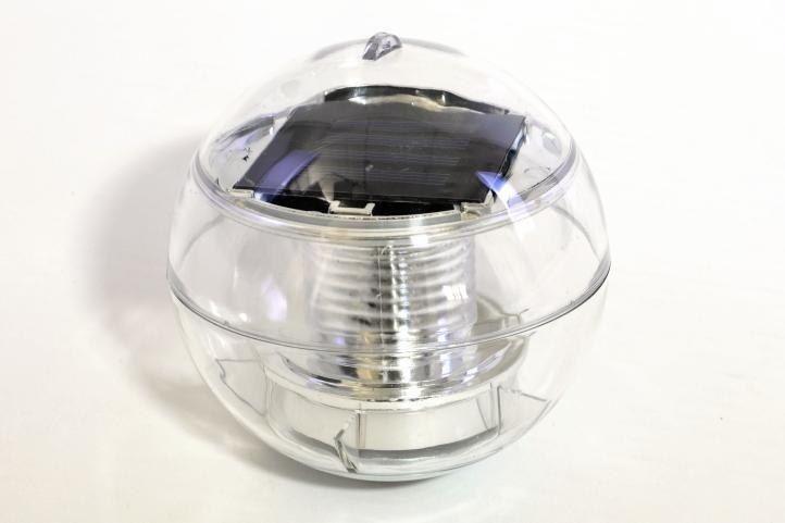 Lampa solarna biała LED, lampion ogrodowy w kształcie kuli zdjęcie 8