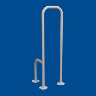 Uchwyt WC dla Niepełnosprawnych mocowany do podłogi prawy biały fi25