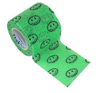 Bandaż kohezyjny samoprzylepny 2,5cm x 4,5m zielony w buźki