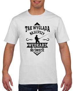 Koszulka męska NAJLEPSZY WEDKARZ NA SWIECIE L