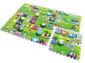 Mata edukacyjna puzzle piankowe na podłogę ulica