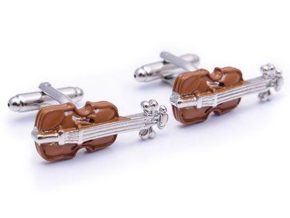 Spinki do mankietów - skrzypce U153
