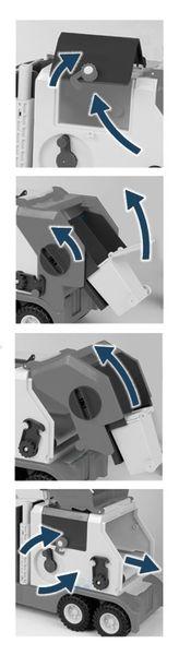 Super Truck Śmieciarka krótka WADER 36580 #A1 zdjęcie 3