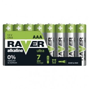 Bateria alkaliczna Raver Ultra Alkaline AAA (LR03) folia 8