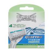 Wilkinson Quattro Titanium Sensitive 8 wkładów oryginalne nożyki ostrza wkłady