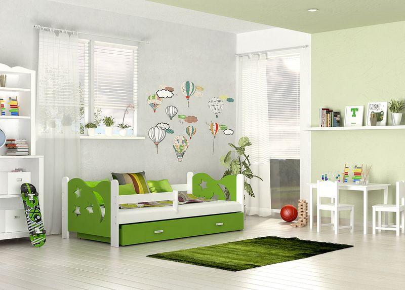 Łóżko dla dzieci MIKOŁAJ COLOR 160x80  szuflada + materac zdjęcie 4