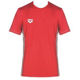 ARENA T-SHIRT TECHNICZNY UNISEX TL TECH S/S TEE RED ROZMIAR XL
