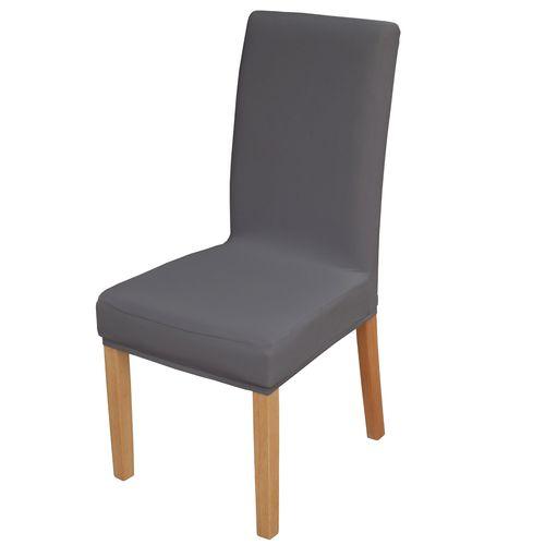 Elastyczny pokrowiec na krzesło spandex, kolor szary grafit na Arena.pl