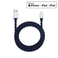 Just Mobile AluCable Flat - Kabel MFi Lightning do USB 1.2 m (Silver)