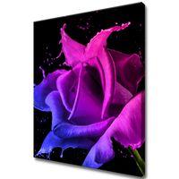 Obraz Na Ścianę 50X60 Róża Z Farb Abstrakcja Kolo