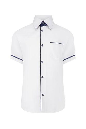 Biała koszula chłopięca, krótki rękaw 104 na Arena.pl