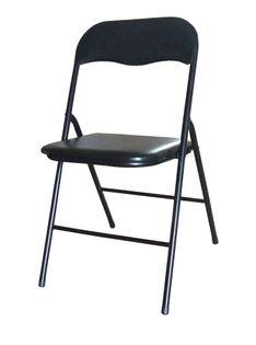 Krzesło składane model Fczarny / czarny