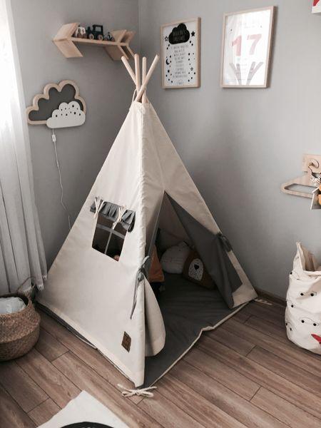 Namiot tipi dla dziecka Naturalna Szarość - zestaw mini zdjęcie 7